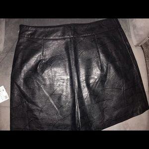 Zara Faux Leather Shorts
